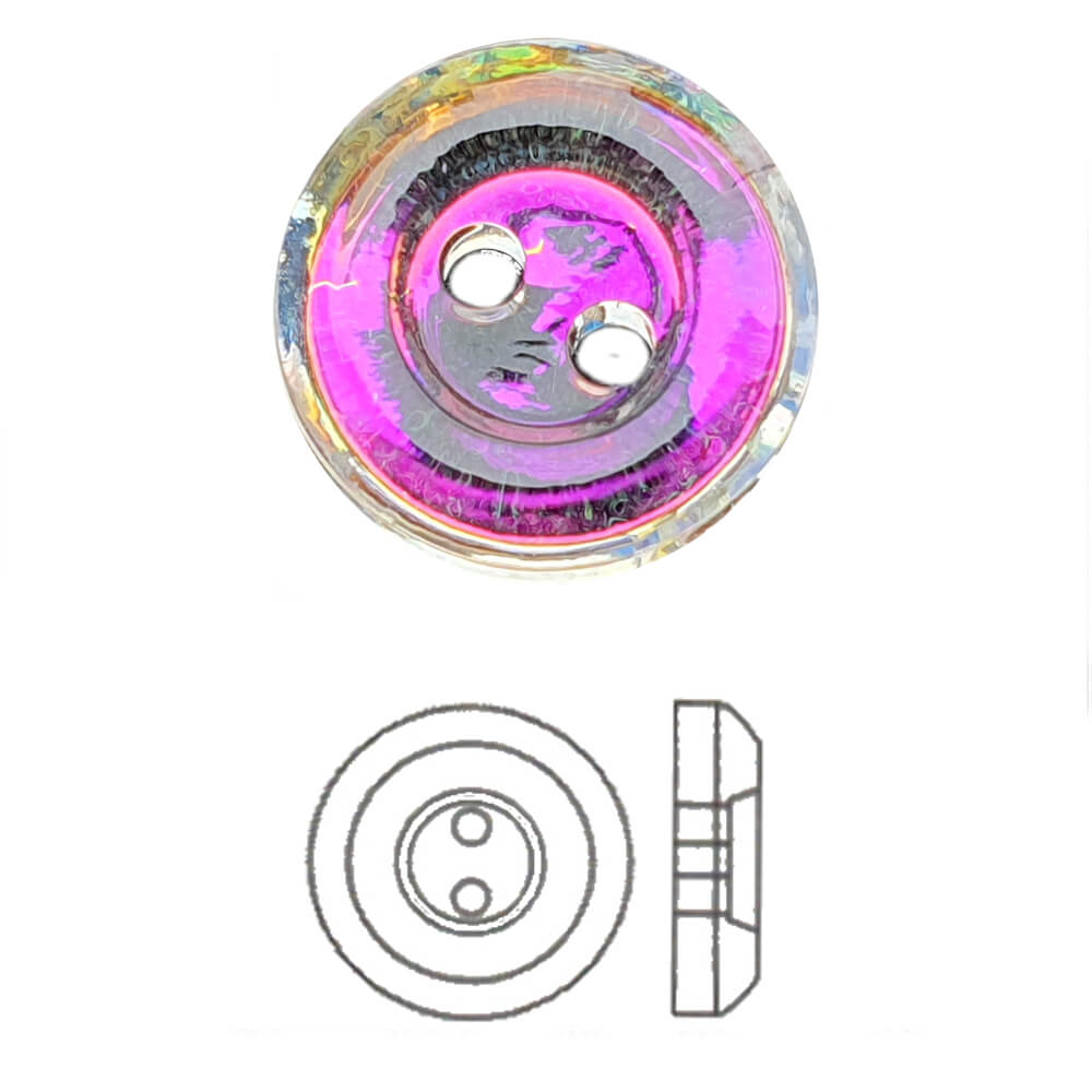 Transmission Swarovski® Crystal Round Button